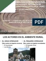 Avances y Logros en Las Telecomunicaciones Rurales Por El Sector Privadp