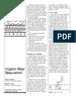 Irrigation Water Measurement