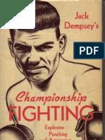 Jack Dempsey Championship Fighting Original scan