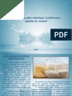 Control pe flux tehnologic la fabricarea laptelui de consum