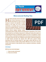 Micro Concrete- ROOF