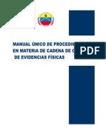 Manual Único de Procedimientos - Cadena de Custodia