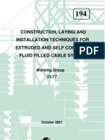 Construction, Laying, Installation of XLPE Oil Fluid Cable