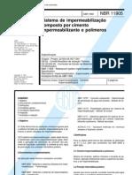 NBR 11905 - 1992 Impermeabilizacao Composto Por Cimento Impermeabilizante e Polimeros