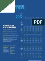 Ramadan 2011 Timetable and Programme