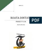 Proiect Tehnologia Constructiilor de Masini