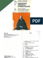 Esperienze Orientali Di Meditazione