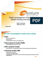Radio Channel Model Tuning