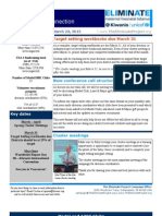 The Eliminate Project - USA 2 Newsletter - 3/23/13