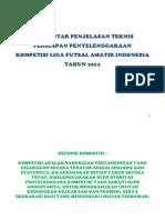 Pengantar Penjelasan Teknis Kompetisi Liga Futsal Amatir Indonesia 2012