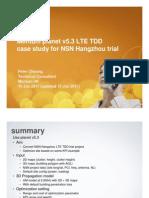 Mentum NSN Shanghai LTE TDD Casestudy