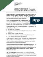 Introduction to Guardianship List VCAT