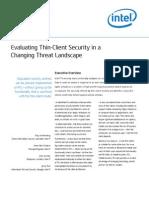 Intel It Enterprise Security Thin Client Paper