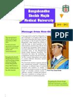 Bangabandhu Sheikh Mujib Medical University Annual Reports 2010-2012