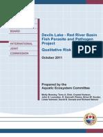 Devils Lake Fish Parasite and Pathogen Risk Report October 2011