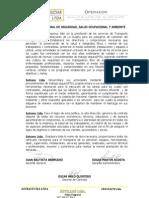 POL ìTICA INTEGRAL DE SEGURIDAD, SALUD OCUPACIONAL Y AMBIENTE.doc