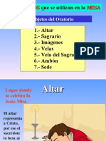 Diapositiva 3 Los Objetos Que Se Utilizan en La EucaristÍa