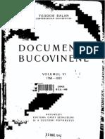 Teodor Balan - Documente Bucovinene 6, 1760-1833