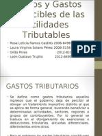 Costos y Gastos de Utilidades Tributables (2)