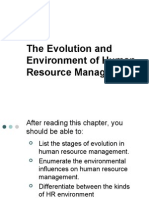 Evolution and Environment of HRM