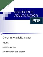 Dolor en El Adulto Mayor 2011