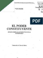 NEGRI, Antonio, El Poder Constituyente (Fragmentos)(Cut)