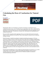 Calculating the Heat of Combustion for Natural Gas