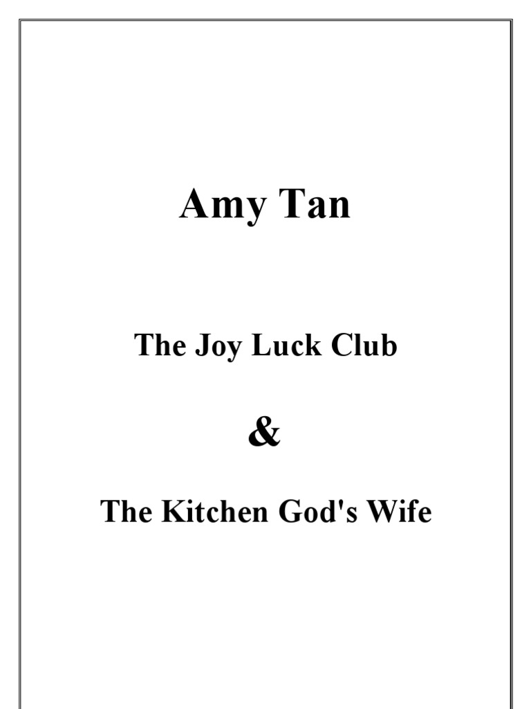 the issue of identity crisis in amy tans joy luck club Get this from a library women's issues in amy tan's the joy luck club [gary wiener] -- presents essays that examine women's issues in the joy luck club.