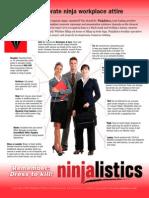 Corporate ninja businesswear dress code -- Dress to Kill