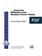 Radioactive Effluents from Nuclear Power Plants Annual Report 2008