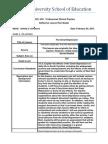 Reflective Lesson Plan 2- Dr. Hicks Evaluation