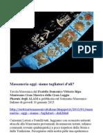 Una Tavola Massonica del Fratello Domenico Vittorio Ripa Montesano Gran Maestro della Gran Loggia Phoenix degli ALAM ® Mssoneria Oggi