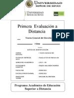 PRIMERA EVALUACIÓN TGD 2013-00