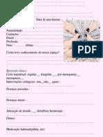 Ficha Manicure Pedicure Sandra