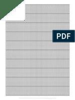 Graph Paper - Multi Width - 8x10 - 80x100