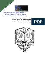 Samael Aun Weor-educacion_fundamental (Material Didáctico de Apoyo para conferencias y actividades de los Institutos de Gnosis)