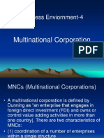 Business Enviornment-4 (Multinational Corporation)