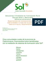 SOL Soluciones Inmediatas en Iluminacion Rural