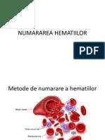 Numararea hematiilor