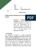 Demanda de Ejecucion de Conciliacion de ESTRELLA CHIHUAN