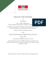 Interactive Code Generation