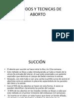 Metodos y Tecnicas de Aborto