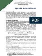 Diseño del repertorio de instrucciones