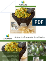 Avokado - Authentic Guacamole - Brochure English Version