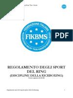 Regolamento Sport del Ring + attività Pro - agg.to Genn. 2011