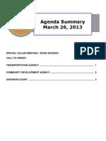 Agenda Summary 3-26-2013