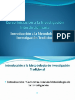 Introducción a la Metodología de Investigación Tradicional