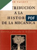 Vailati,Juan - Contribucion a La Hist de La Mecanica