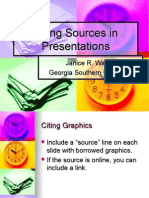 Citing Sources in Presentations