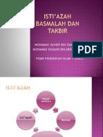 Isti_azah Dan Basmalah Dan Takbir